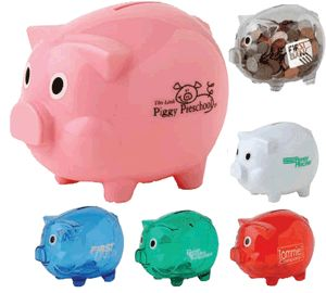 Promotional piggy bank for Large piggy bank with lock
